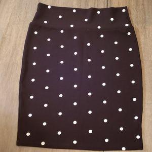 LuLaRoe Cassie Skirt - Polka-dot